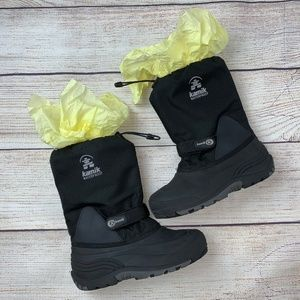 Kamik Waterproof Winter Snow Boots Black 6